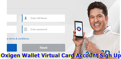 Oxigen Wallet Virtual Card Account Sign Up