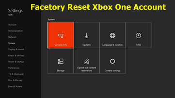 How To Factory Reset Xbox One Console