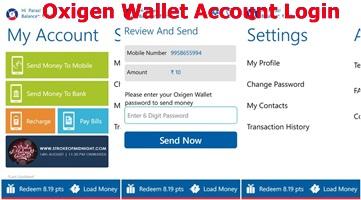 Oxigen Wallet Account Login