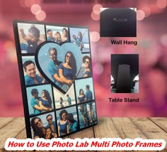 How to Use Photo Lab Multi Photo Frames