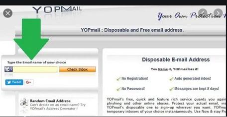 www.YopMail.com Login Page