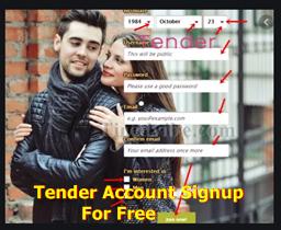 Tender Account Signup For Free | Tender Sign In –  Download Tender Online Dating App