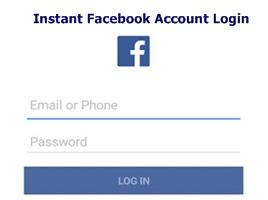 Instant Facebook Account Login – Facebook Instant Login   Login Instantly To Your Facebook Account