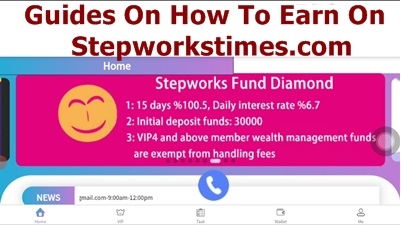 Guides On How To Use Stepworkstime and Earn Money Into Your Account Daily