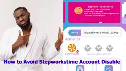Stepworkstime Account Management