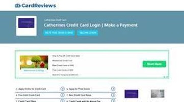 Catherines Credit Card Login | Catherines Credit Card Account Sign Up – How to Make Catherines Credit Card Bill Payment